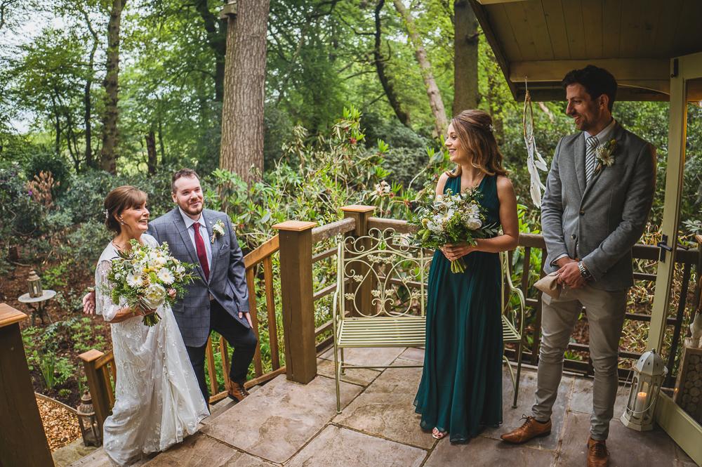 Moss wood wedding love shack