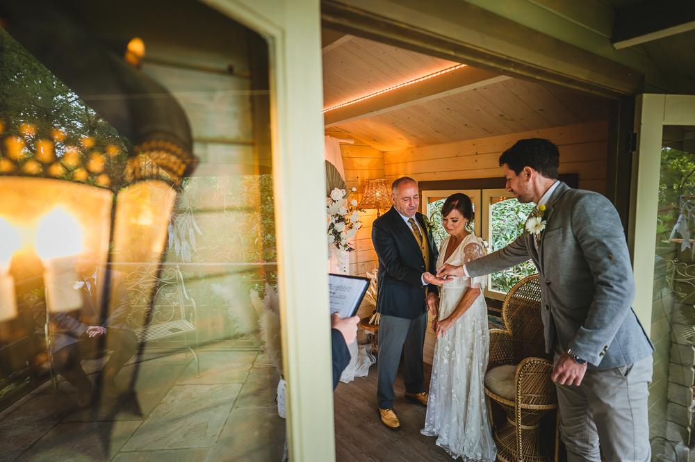 Love Shack wedding ceremony Cheshire