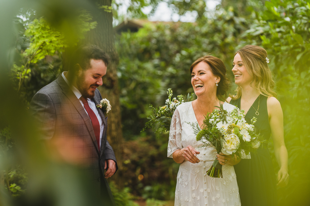 intimate woodland wedding photography